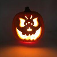 Vintage Gemmy Scary Halloween Foam Mold Jack O Lantern Light Up Pumpkin