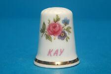 Girl's Name 'Kay' China Thimble B/93