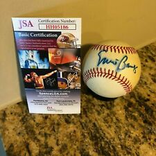 ERNIE BANKS SIGNED NATIONAL LEAGUE FEENEY BASEBALL CHICAGO CUBS HOF AUTO JSA COA