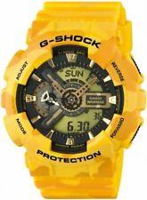 Casio G-Shock GA110 Series Anadigi Military Color Yellow Camo Watch GA110CM-9AER