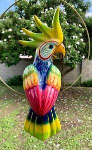 Talavera Bird Handmade & Painted Ceramic Mexican Pottery Hanging Patio Decor #07