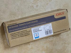 Genuine Oki C6100 C6150 MC560 C5550MFP Cyan toner cartridge OEM part # 43865719