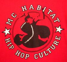 MC HABITAT hooded sweatshirt hip hop 2XL rap XXL Toledo OHIO breakdance hoodie