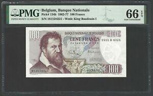 Belgium 100 Francs 1962-77 P134b Uncirculated Grade 66