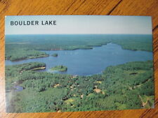 Postcard, Boulder Lake, Famous for muskie and walleye (photo by Guy A Wyman)