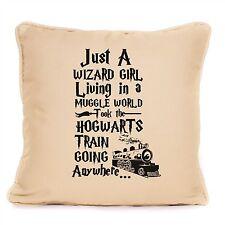 Harry Potter Just A Wizard Girl Muggle World Large Cushion Hogwarts Gift Idea