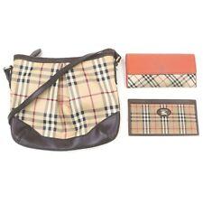 Burberrys Burberry PVC Canvas Shoulder Bag Long Wallet 3 pieces set 517912