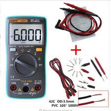 Multimètre Numérique True-RMS 6000 AC/DC Température Voltmètre Ampèremètre Test