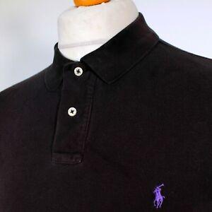 """Ralph Lauren Polo Shirt Custom Fit - Black - XL/2XL/46"""" - Mod Ska 60s Casuals"""