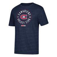 Montreal Canadiens CCM Wheelhouse Vintage Team Tri-Blend Navy Blue T-Shirt Men's