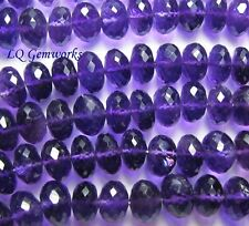 "AA 10"" Grape AMETHYST 9.5mm Faceted Rondelle Beads"