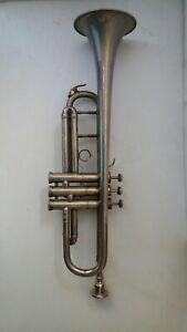 Antique old   brass trumpet