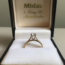 Vintage Diamond Engagement Ring Solitaire Hallmarked 18ct Gold 750 4-Claw Size G