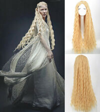Lord of the Rings The Hobbit Elf Galadriel Flaxen Wavy Cosplay Party Costume Wig