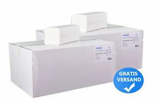 4000, 8000 oder 12000 Falthandtücher - Papierhandtücher 2lagig weiß, V Falz