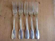 5 fourchettes à entremet, fromage, Christofle fabriquées pour AIR FRANCE, A.F.