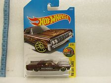 HOT WHEELS 2017 015/365 LC LINCOLN CONTINENTAL ART CARS 2/10 ON LONG CARD