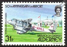 de Havilland DH.89 DH89 DRAGON RAPIDE Aircraft Mint Stamp (1985 Alderney)