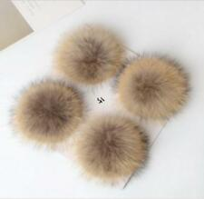 Confortable Faux Raccoon Fake Fur Hair Huge Ball Fluffy Pompom Hat Bag Shoses