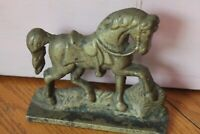 Cast brass Horse Door stop Vintage Antique bookend paperweight Western Decor