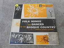 """FOLK SONGS AND DANCES OF THE BASQUE COUNTRY-10""""-VANGUARD 7031-WORLD MUSIC"""