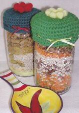 Crochet Pattern ~ JAR LID COVERS ~ Instructions