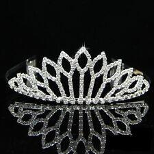 Boda Nupcial Dama Flor Niñas Cristal Tiara Corona Diadema/002