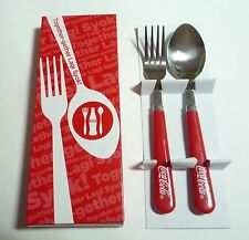 COCA COLA Coke Limited Edition SPOON and FORK Set Malaysia Stainless Steel 2010