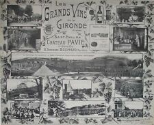 1908 CHATEAU PAVIE FRANCE BORDEAUX WINERY VITICULTURE FRENCH PHOTOGRAPHIC VIEWS