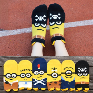 6-12PrsLadies Bamboo Low Cut No-Slip Heel Grip No Show Socks Cartoon Women Socks