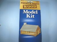 Old West Log Cabin Unfinished Wood Model Kit Miniature class/camp project