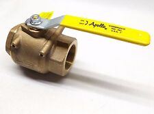 "APOLLO 77-108-01 BRONZE FULL PORT BALL VALVE 2"" WITH MOUNTING PLATE"