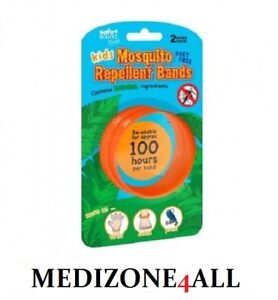 KIDS MOSQUITO & INSECT REPELLENT BANDS FOR WRIST ANKLE  PRAM 2 PACK BAND