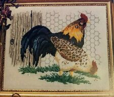 Heirloom Treasure Rooster and Hen Counted Cross Stitch Lois Thompson Chicken USA
