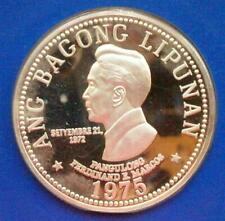 Philippines 1975 Marcos 50 Pesos Silver Coin,Proof