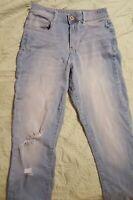 Arizona Jean distressed Co-Jeggings/jeans  Sz 7 Super Skinny Stretch