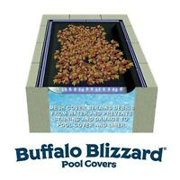 Buffalo Blizzard 25' x 45' Rectangle Swimming Pool Leaf Net Winter Cover