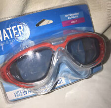 Water sun and fun Watersport goggles  adult 12+ New Red Sealed Swimming
