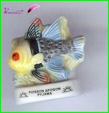 "Feve de collection Poisson Fish Fisch Edition Atlas "" L'Apogon Pyjama "" #E5"