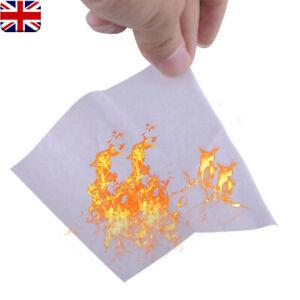 20x Flash Paper for Close-Up Fire Finger Flint Flasher Magic Tricks Props