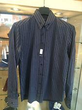Peter Werth Stripe Shirt Grey Sizes Large BNWT RRP £60
