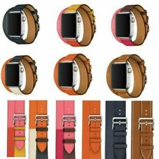 Leather Watch Band Herme Belt Double/Single Tour For AppleWatch Series 2/3/4/5