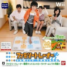 Used Wii Family Trainer: Athletic World w/ Mat Japan Import
