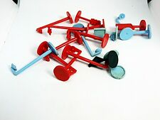 HO Slot Car Lot of  Red & Blue Boulevard Lights & Signs For Your Layout