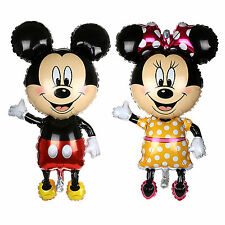 "2PCS Large 33"" Supershape  Foil Balloon Mickey Mouse Baby Shower Party Decor"