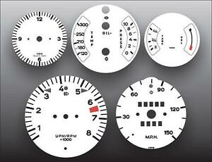 1974-1977 Porsche 911 911S 150 Mph Dash Instrument Cluster White Face Gauges