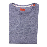 Isaia Slim-Fit Blue Superfine Linen and Cotton Crewneck T-Shirt S NWT $395