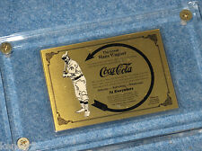 1992 Coca Cola Honus Wagner 24kt Gold Card Serial #001 Series #1 Collect-A-Card