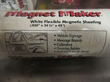 """v115 Magnetic Sheeting Magnet Maker White Flexible .031"""" X 24 3/8"""" X 48"""" x 2"""