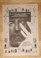 Frank Zappa Joe's garage  1980 press advert Full page 37 x 27 cm poster